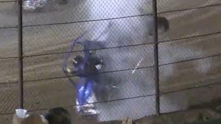 Ventura Raceway | USAC Western Dirt HPD Midgets | Jared Pickens Flips Twice