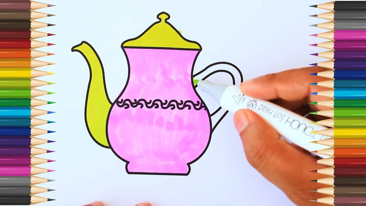 How to Drawing Tea Port (Video Projent 23/365) #1