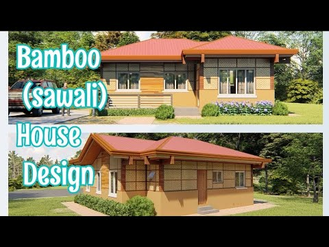 Small Native House Design Beautiful Bamboo House Sawali Inspired Youtube