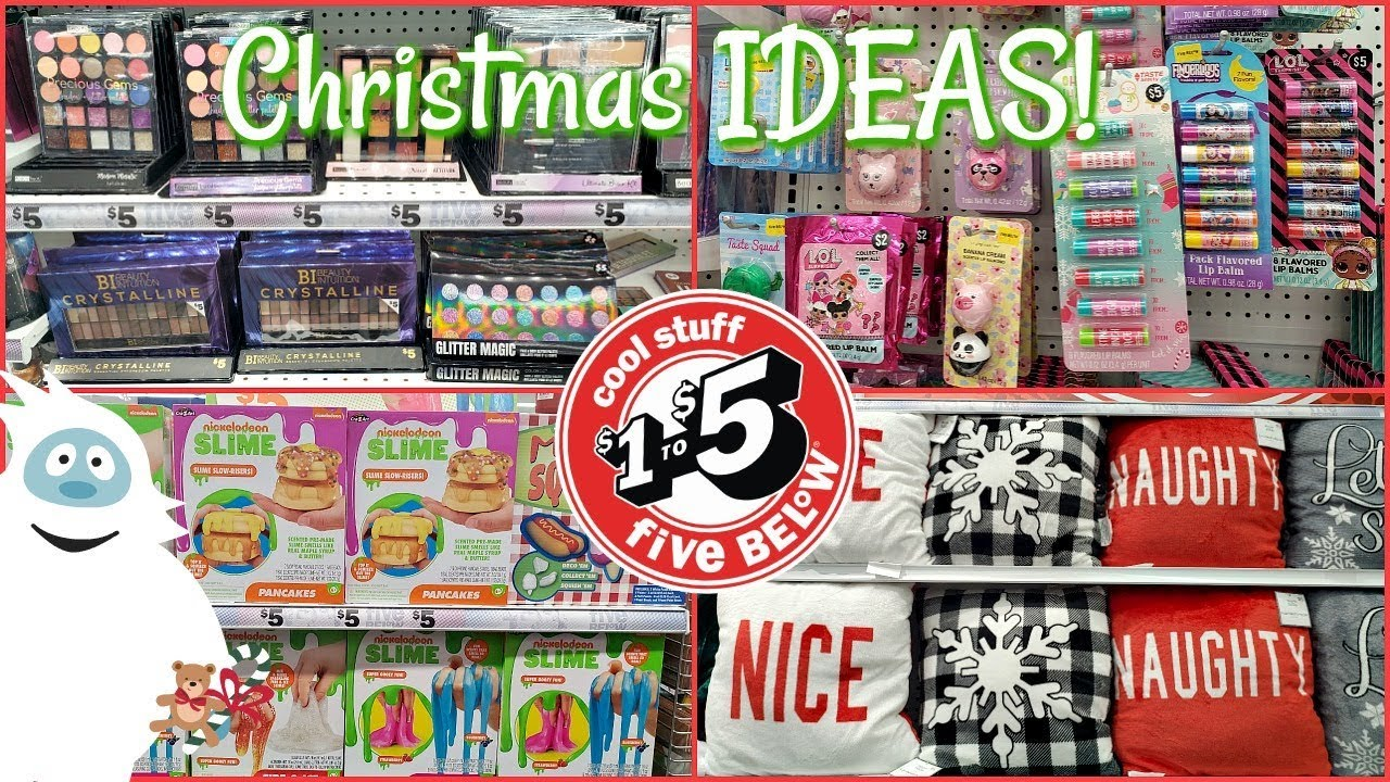 Five Below Christmas Madness 5 Deals Gift Ideas Shop With Me 2019 Youtube
