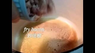 ⭐herbs Bacon Mushroom Creamy Pasta 香料培根奶油意面⭐