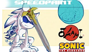 ||Speedpaint|| Sonic Okami Style