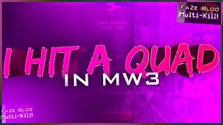 I hit a QUAD on MW3!!