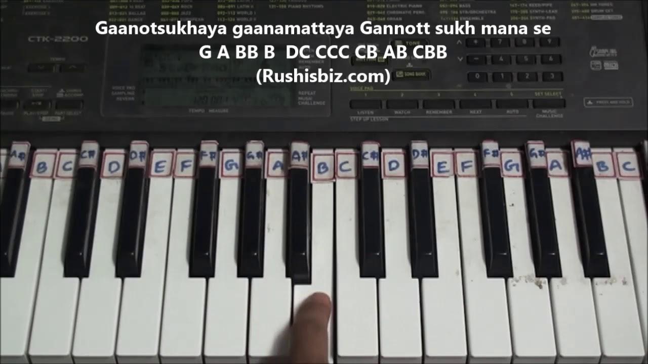 Saahore baahubali(title song) piano tutorials telugu.