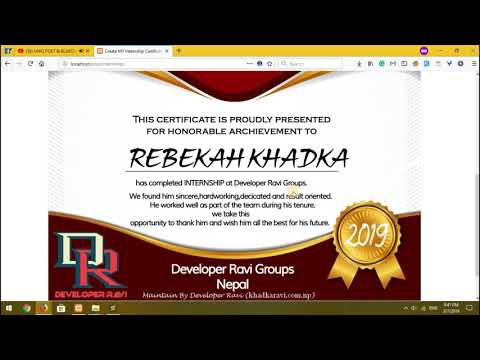 How To Create Certificate Without Design Skills [project In Php] Student Project - 2019