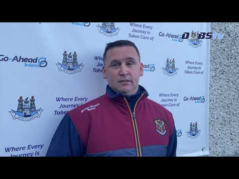 Craobh Chiarain manager Dave Shanley speaks to DubsTV after win over Whitehall Colmcille