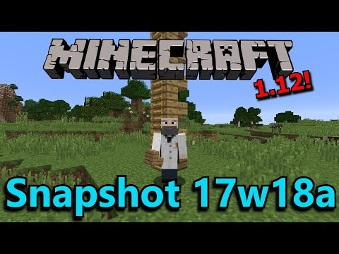 Minecraft 1.12 Snapshot 17w18a- Backwards Walking & New Advancements!