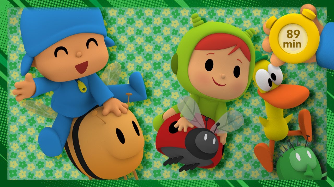 🐛 POCOYO AND NINA - Learning about bugs [89 min]   ANIMATED CARTOON for Children   FULL episodes