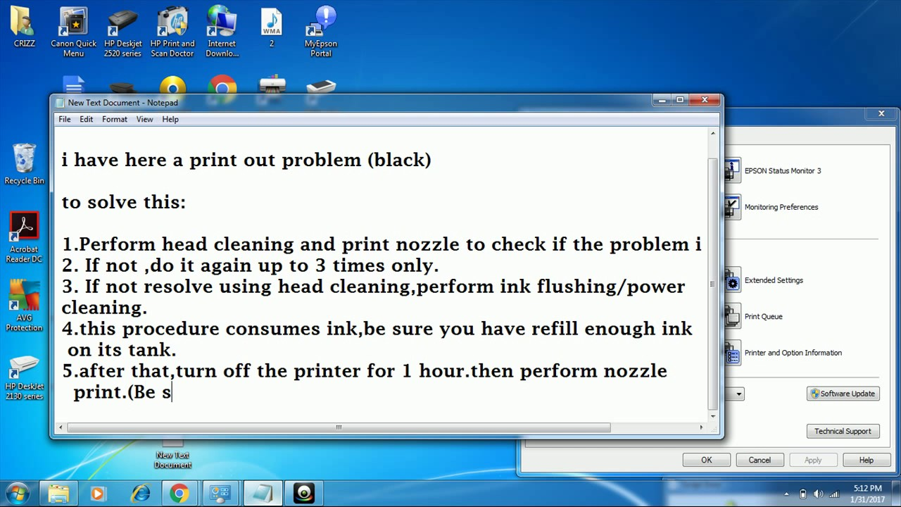 how to solve print out problem on epson l120 youtube