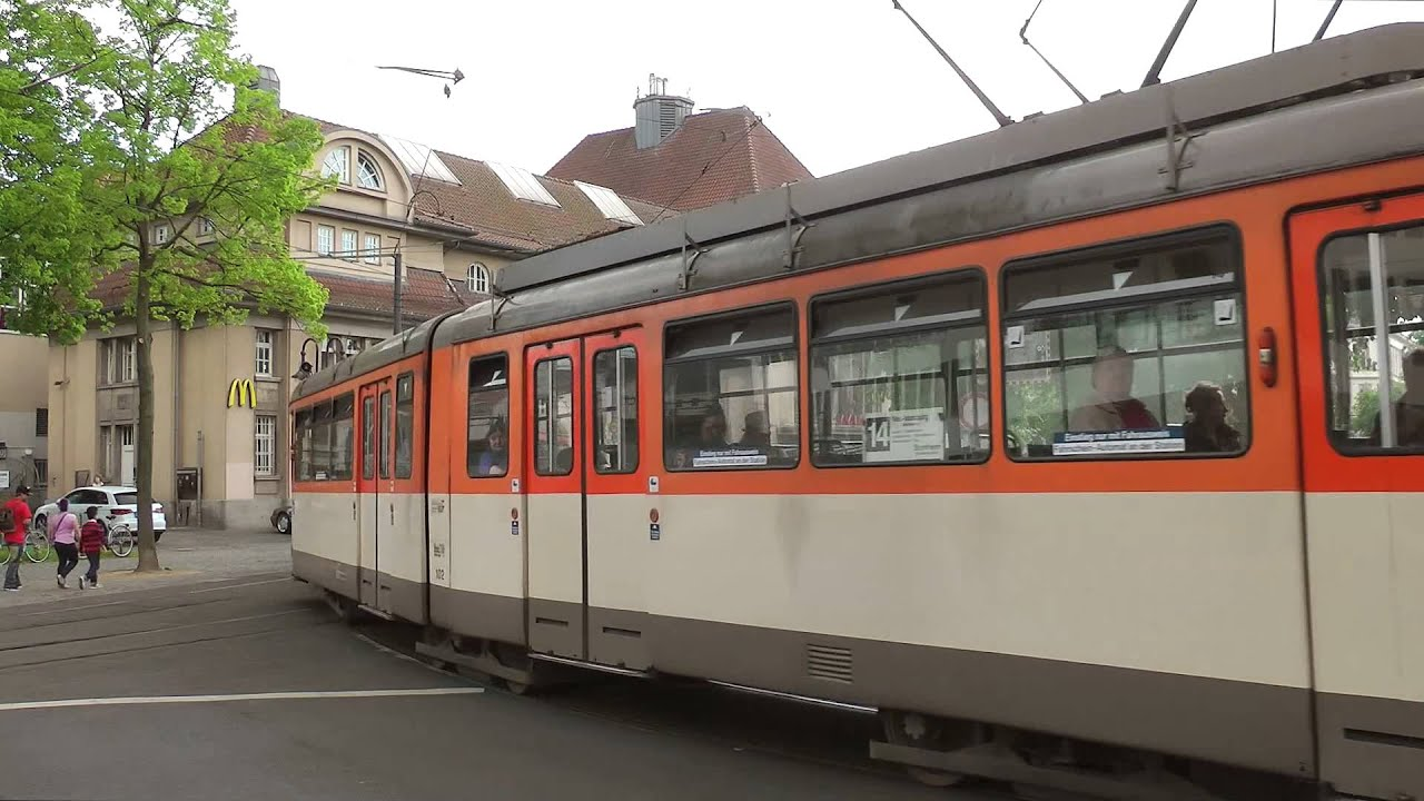 stra enbahn frankfurt main n und m wagen auf der linie 14 2013 hd youtube. Black Bedroom Furniture Sets. Home Design Ideas