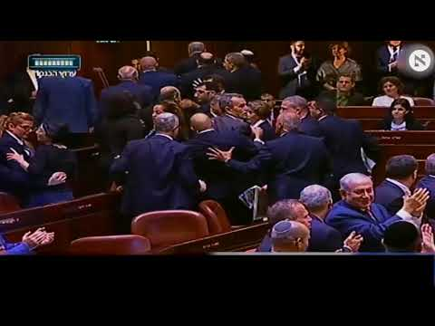 Arab MKs protest and removed by force from Knesset moments into Pence speech