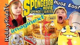 SpongeBob Out of Water MOVIE Mega Egg Imaginext Toys! Play-Doh, Chocolate Eggs Mashem by HobbyKids