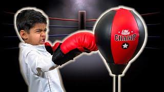CHAMPIC Punching Bag for KIDS Boxing Gloves Focus Pads amp Pedestal Punching Bag