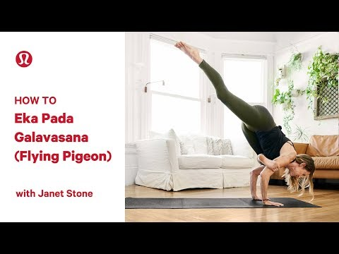 How To Flying Pigeon Pose (Eka Pada Galavasana) with Janet Stone
