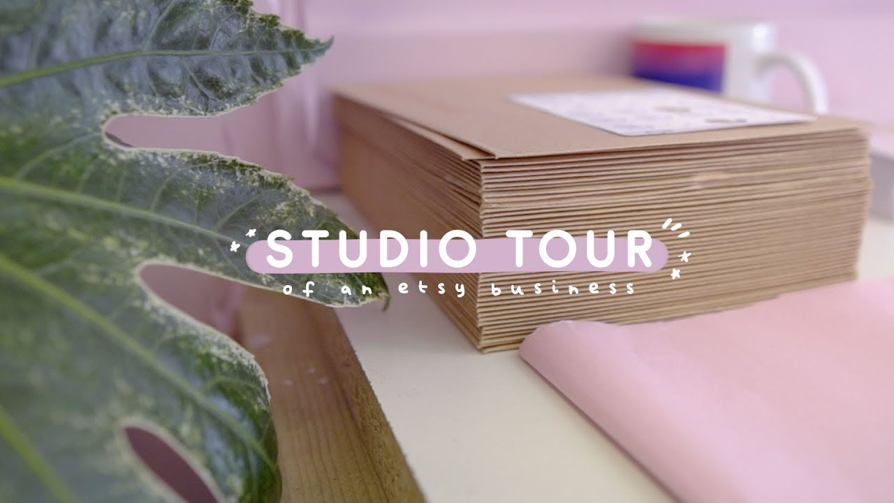 STUDIO TOUR of an Etsy business