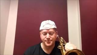 Trumpet lesson in Glissando by Kurt Thompson