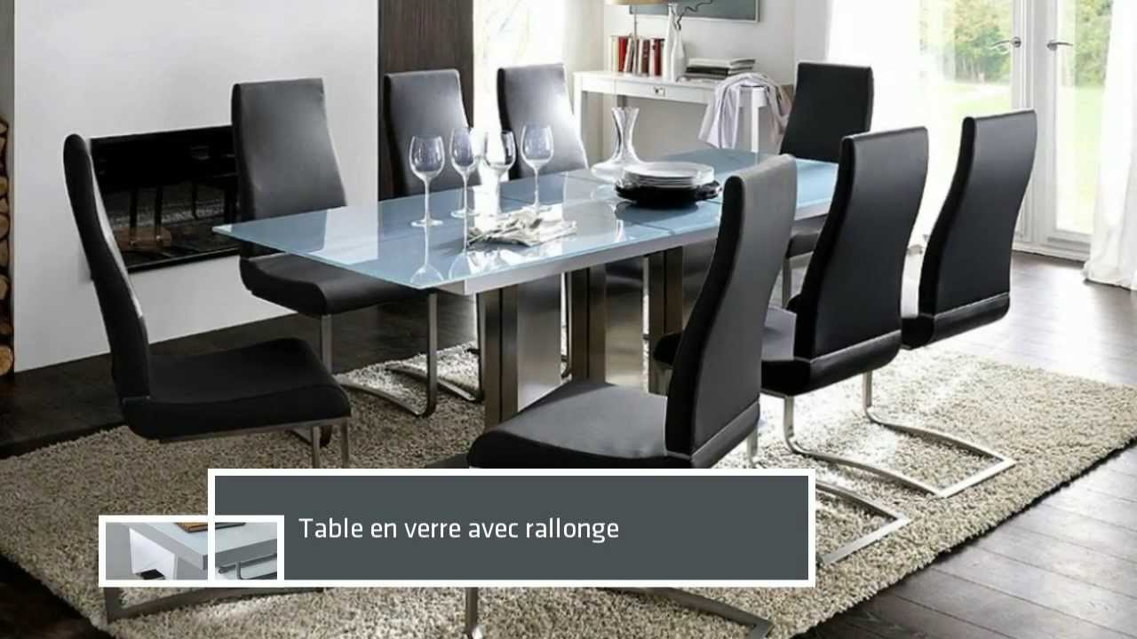 Collection harmony meuble design table manger youtube for Table salle a manger noir et blanc