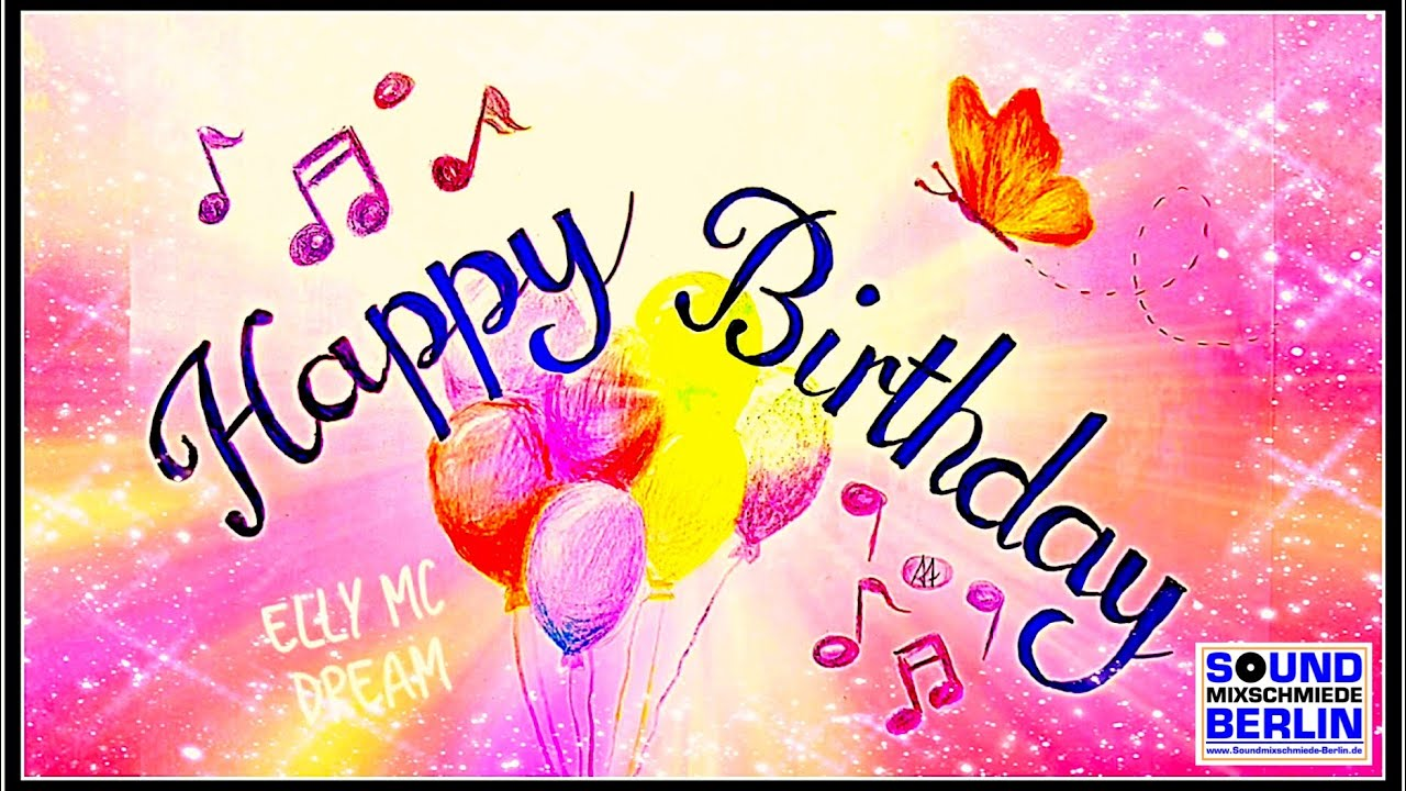 Happy Birthday Song Draw Wishes DIY For WhatsApp New Elly Mc Dream