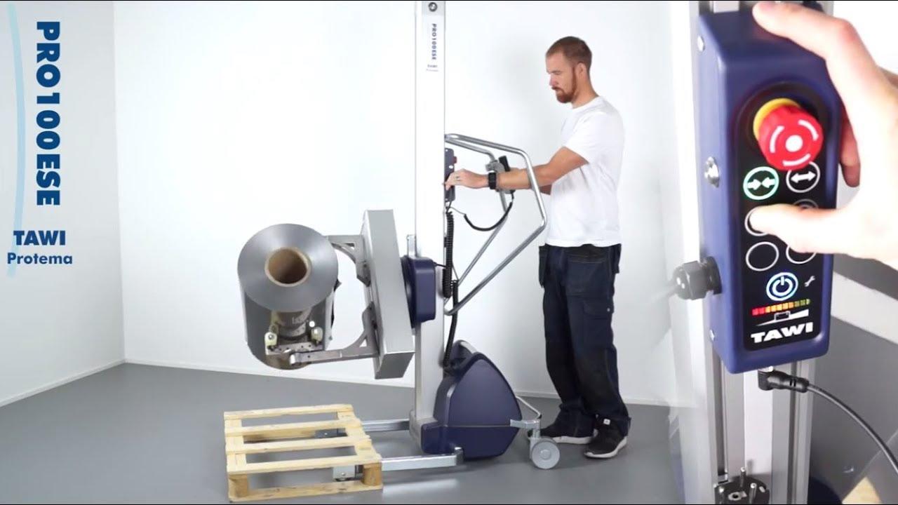Carretilla de elevación eléctrica para la manipulación de bobinas