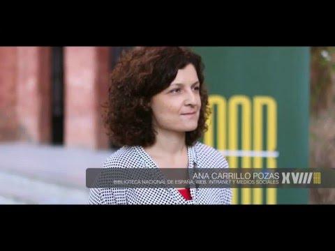 Entrevistas 18JBA: Ana Carrillo Pozas.  Biblioteca Nacional de España. Jefa del Servicio de Intranet