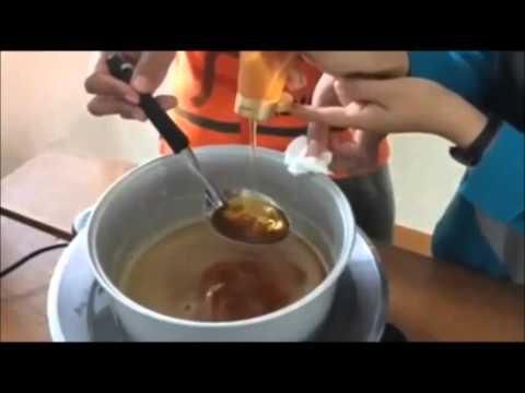 การทำสบู่สมุนไพรน้ำผึ้งขมิ้น