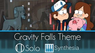 Gravity Falls - Extended Theme - |SOLO PIANO TUTORIAL| -- Synthesia HD