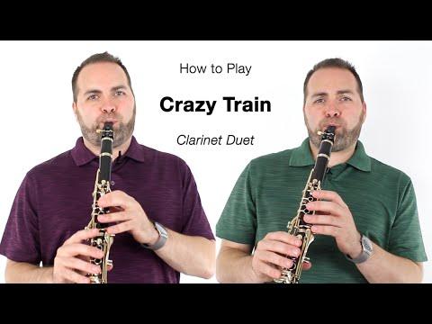 CRAZY TRAIN for Clarinet (duet)