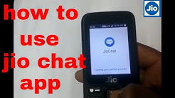 how to use jio chat app in jio phone