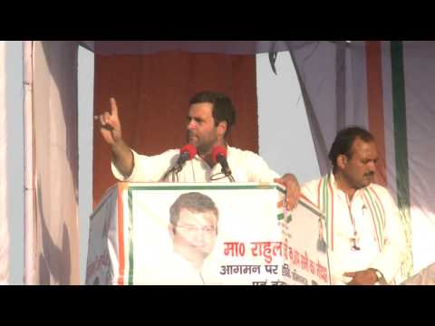 Rahul Gandhi Addresses Public Rally at Hamirpur, Uttar Pradesh on April 28, 2014