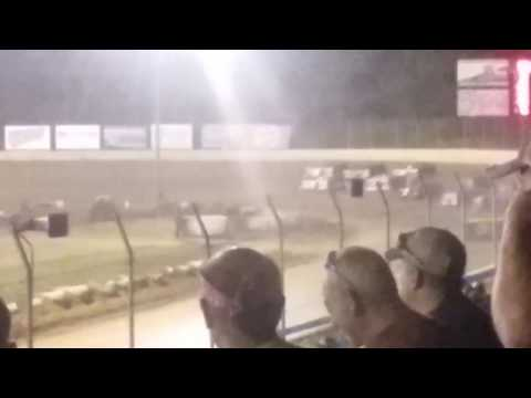 Florence Speedway Robby Hensley slidejob for the lead