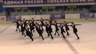 Чемпионат России по синхронному катанию  МС  КП 4 Татарстан КАЗ
