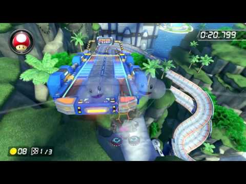 Big Blue [200cc] - 1:01.883 - ポッチ (Mario Kart 8 Deluxe World Record)