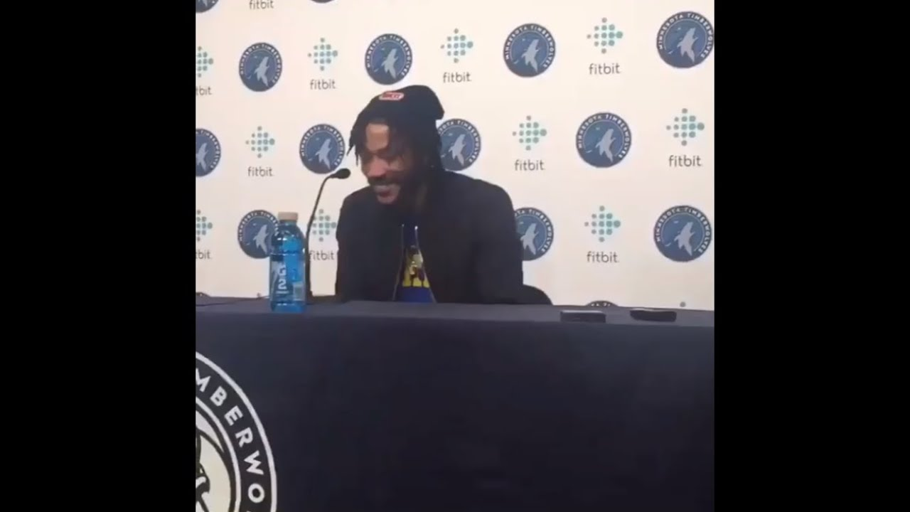 Derrick Rose during on-court interview after game-winner: 'Excuse ...