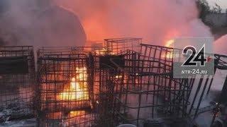 Появились фотографии с места пожара в Нижнекамске, во время которого пострадал 51-летний рабочий