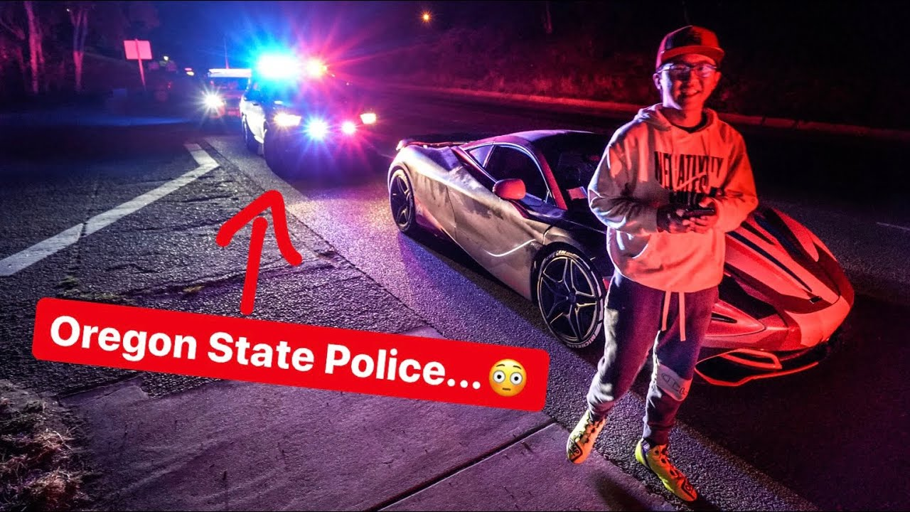 OREGON STATE POLICE PULL ALEX CHOI OUT OF MCLAREN 720S!