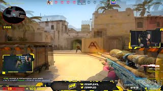 When S1mple plays AWP on stream #2