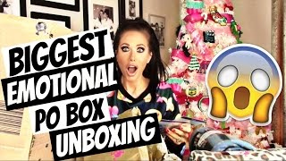 BIGGEST, EMOTIONAL PO BOX UNBOXING EVER