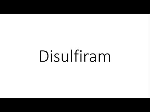 Disulfiram - Pharmacology