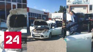 В Грозном застрелили водителя, открывшего огонь по полицейским - Россия 24