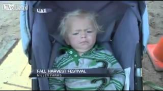 Reporter Makes Baby Cry On Live TV