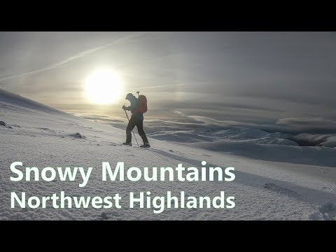 A snowy mountain hike in The Northwest Highlands - Bac an Eich Strathconon