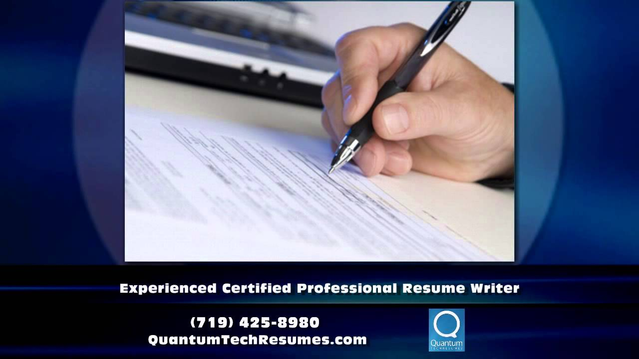 Resume Writer Colorado Springs CO - Quantum Tech Resumes - YouTube