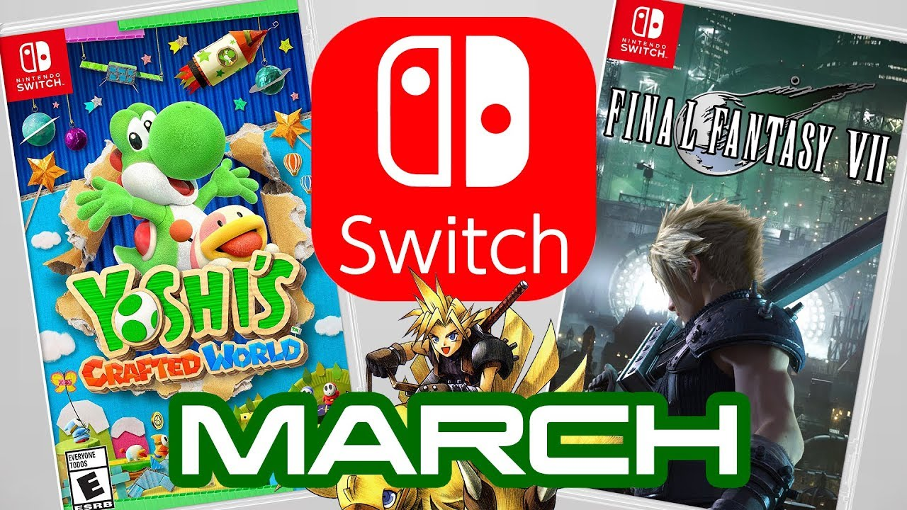 Top 10 Nintendo Switch Games Coming March 2019 Youtube