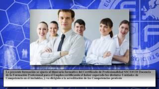 Ssce0110 Docencia De La Formacion Profesional Para El Empleo Online - Cursos Online