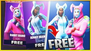 """How to get the """"NEW""""Rabbit Raider & Bunny Brawler """"FREE"""" in Fortnite!! (New Fortnite Skins FREE)"""