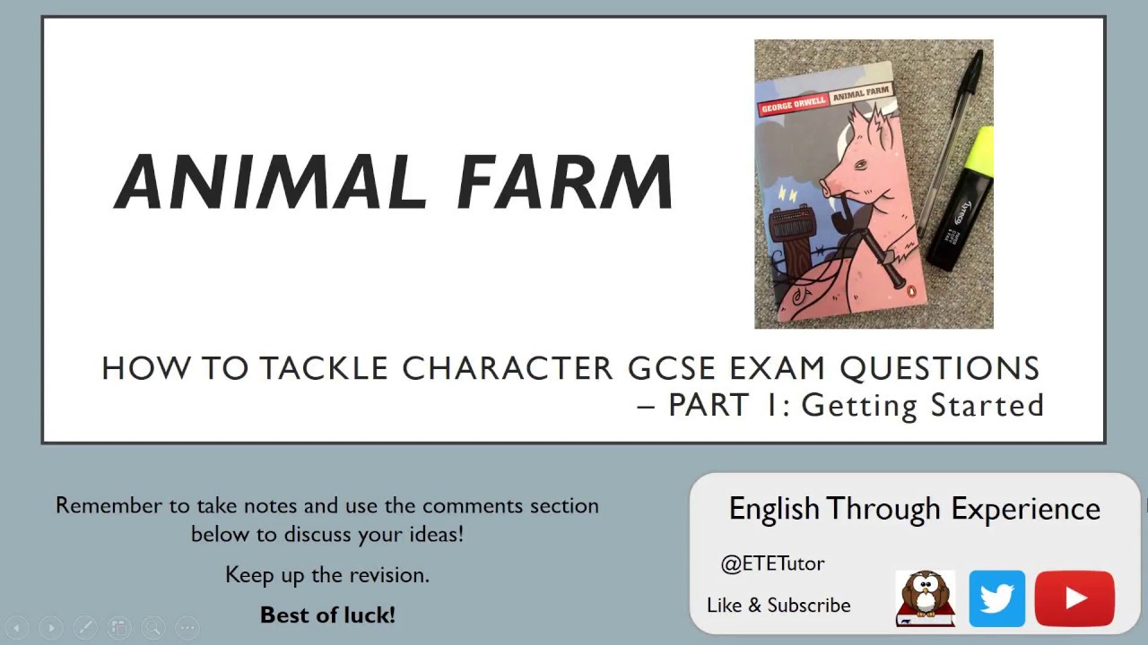 Animal farm assessment one