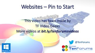 Pin Websites to Start