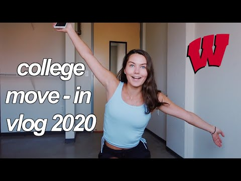 COLLEGE MOVE-IN VLOG 2020 || University Of Wisconsin-Madison