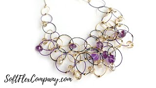 Free Spirit Beading with Kristen Fagan: Make A Freeform Necklace With Soft Flex Purple Rain Trios