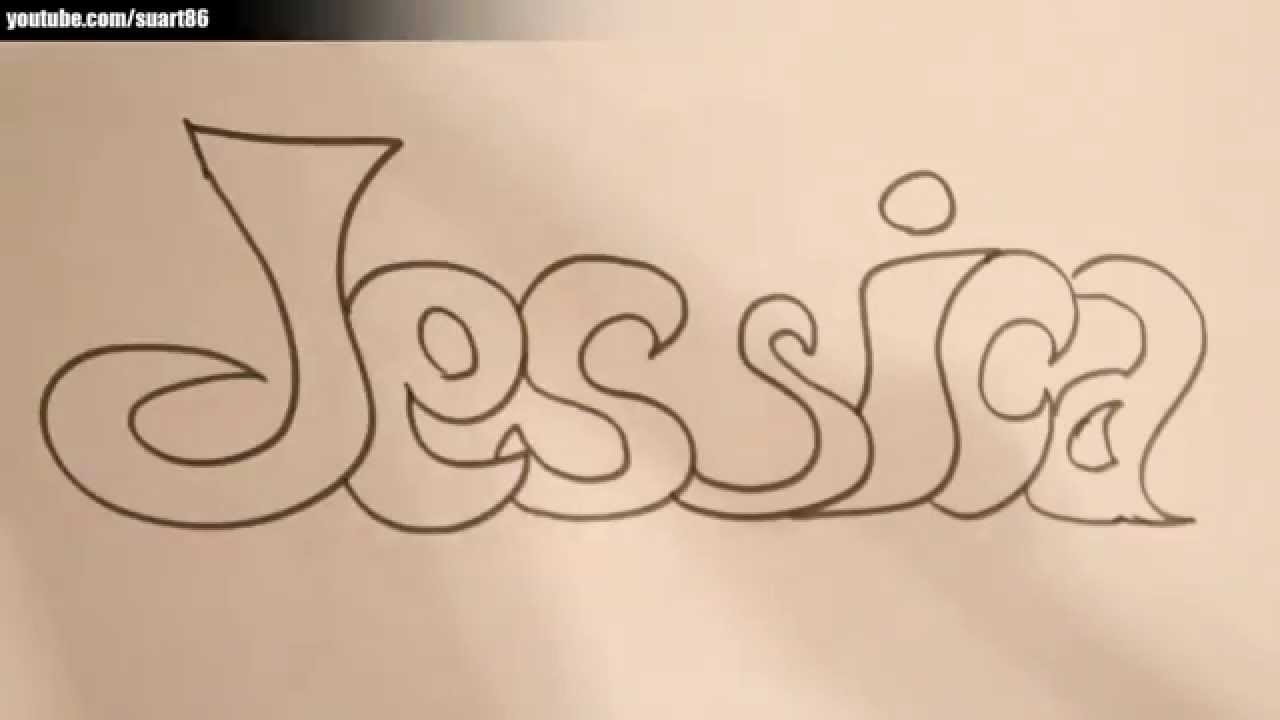 How to draw the name jessica youtube for How to doodle names